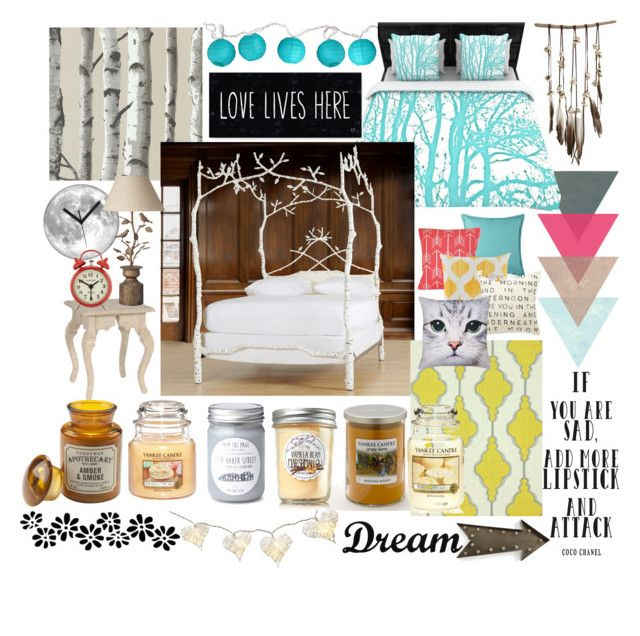 """My Dream Bedroom Would Consist OF......"" by beautyandstylefox ❤ liked on Polyvore"