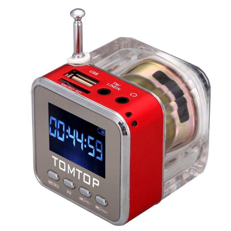 Mini Digital Portable Music MP3/4 Player TF USB Disk Speaker