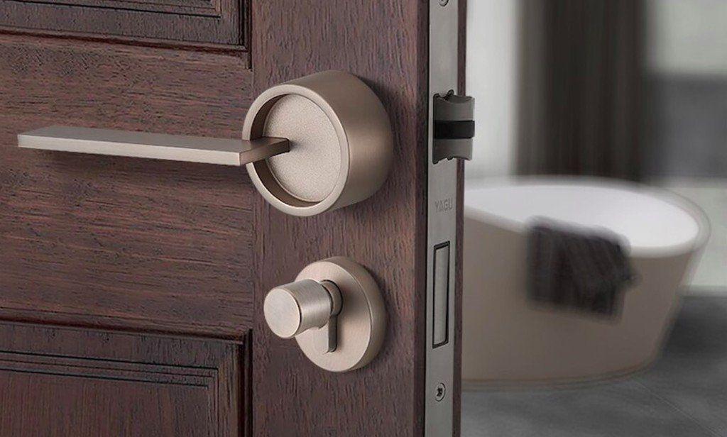 Split Style Security Door Lock Secures Your Main Door In Style Innovation Technology Tech Design Business Sta In 2020 Door Lock Security Security Door Door Locks