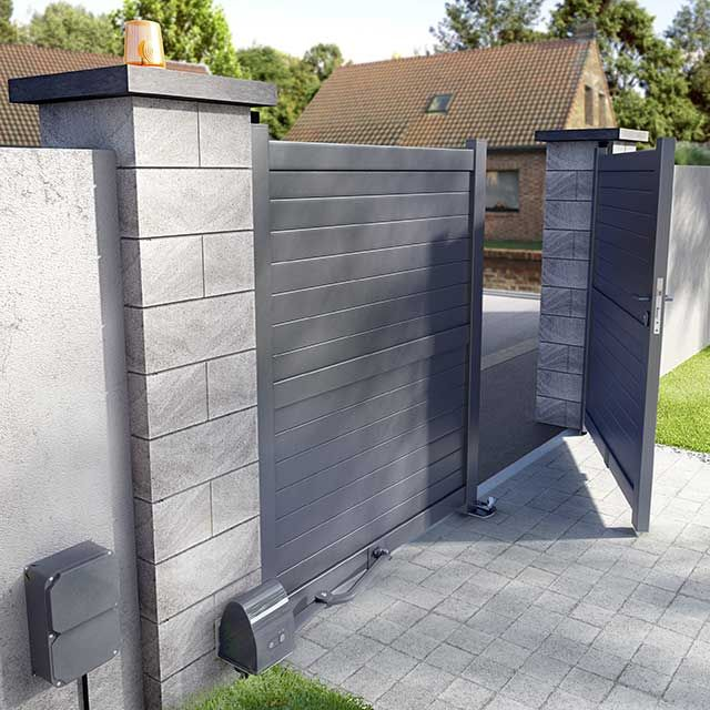 Portail En Alu Sydney Ii 300 Cm Portail Aluminium Idee Entree Maison Portail Alu