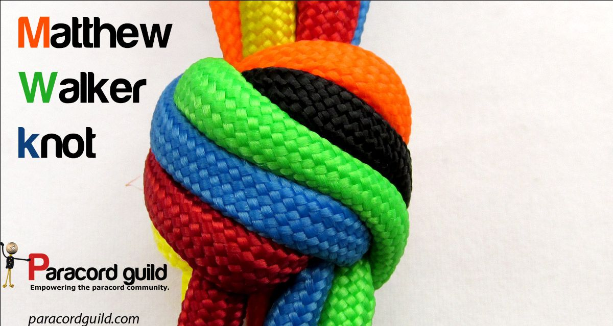 Matthew Walker knot tutorial.