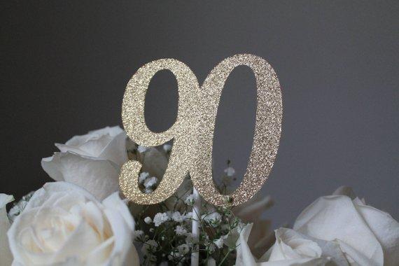 90th birthday centerpiece stick 90th birthday party decorations rh pinterest com