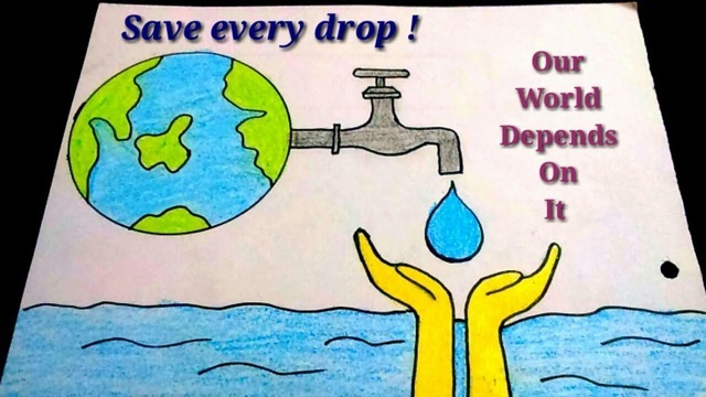 Save The World Water Save Water Poster Drawing Save Water Poster Save Water Drawing