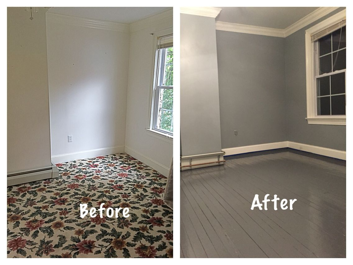 Updated This Room By Ripping Out The Old Carpet The Paint