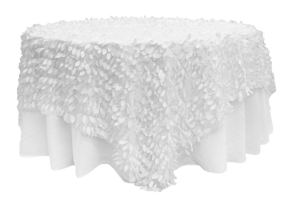 Leaf Petal Table Overlay   Ivory