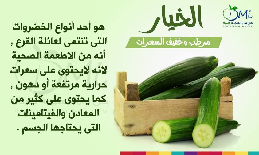 الخيـــار و عائلة القرع تعرف معنا Http Www Dailymedicalinfo Com Cucumber Health Vegetables