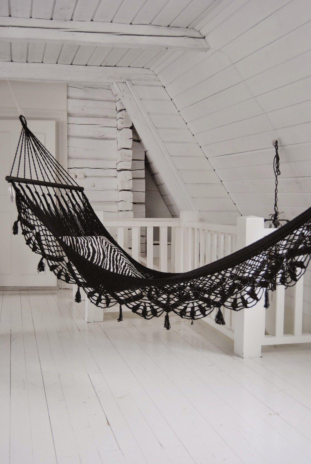 Black hammock bali pinterest black interiors and indoor hammock