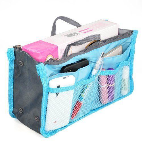 TOOGOO(R) Handbag Organiser ,Organizer Large, Insert, Travel Bag, 12 Pockets