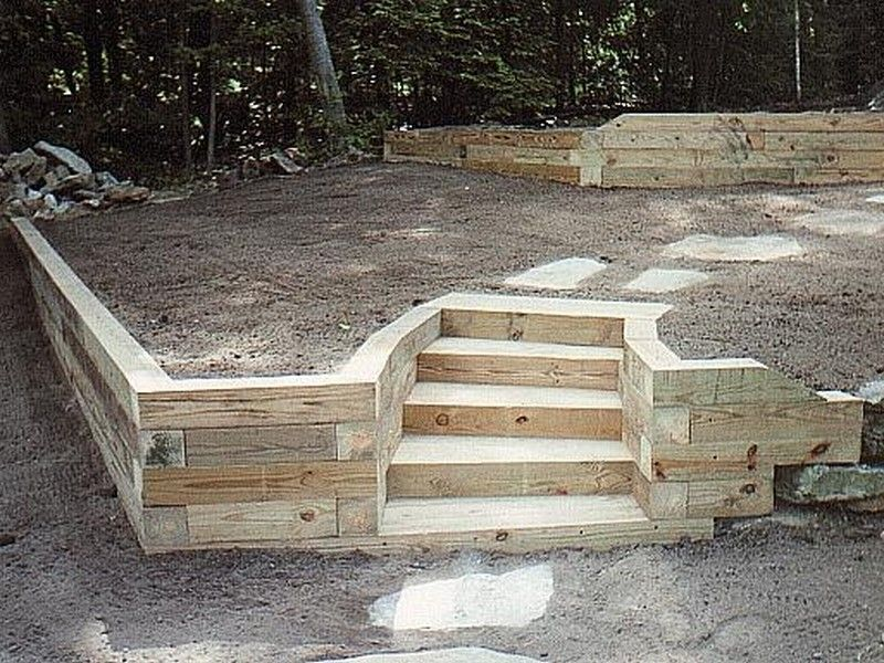 great landscaping timber ideas