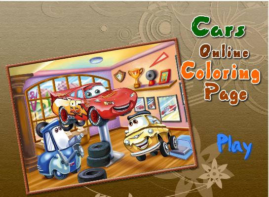 """Раскраски для детей онлайн: Онлайн раскраска """"Тачки ..."""