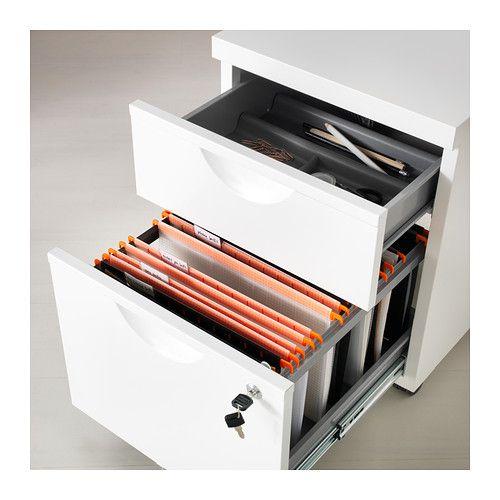 Rollcontainer weiß ikea  ERIK Rollcontainer mit 2 Schubladen - weiß - IKEA | Home office ...