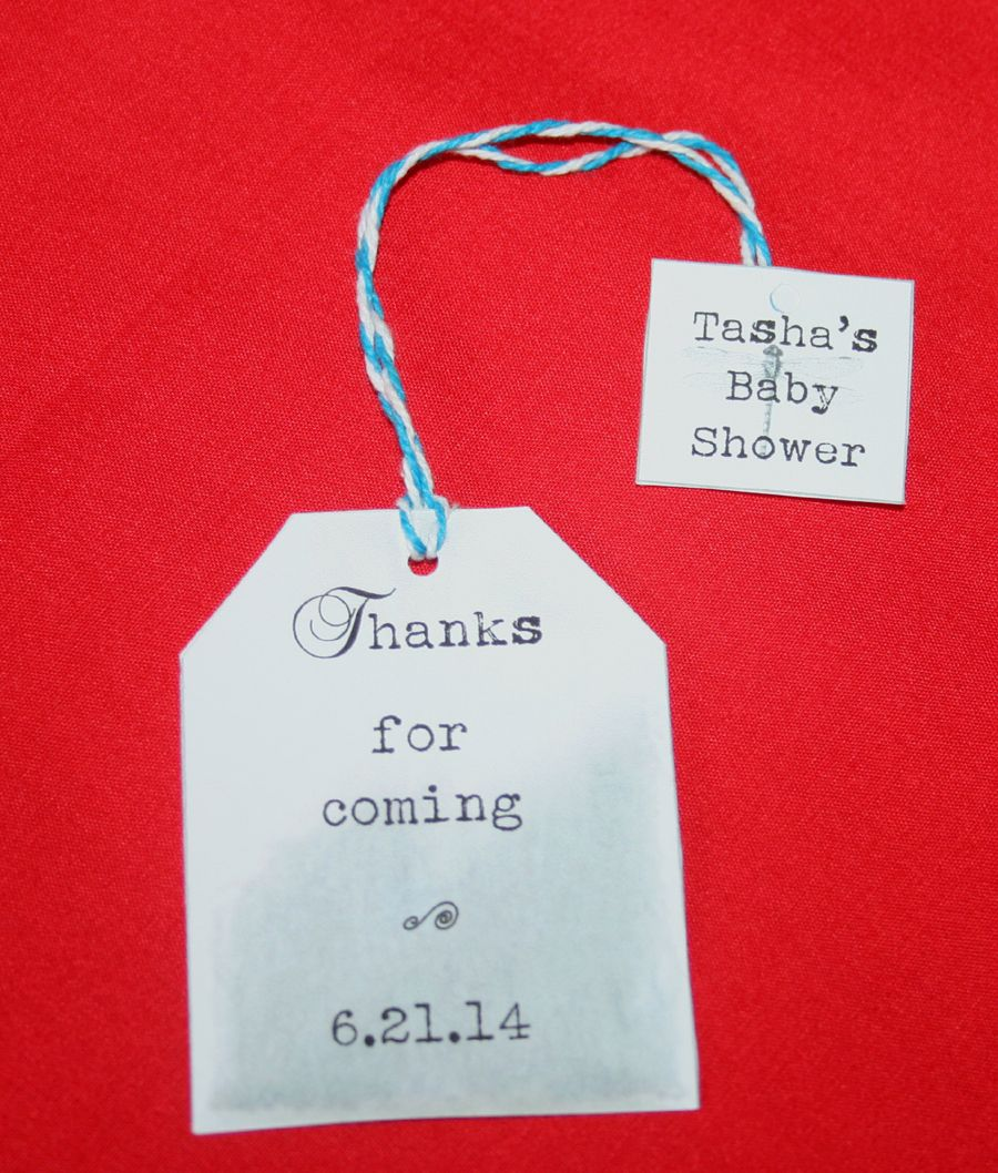Free customizable tea party favor tags for a baby shower available ...