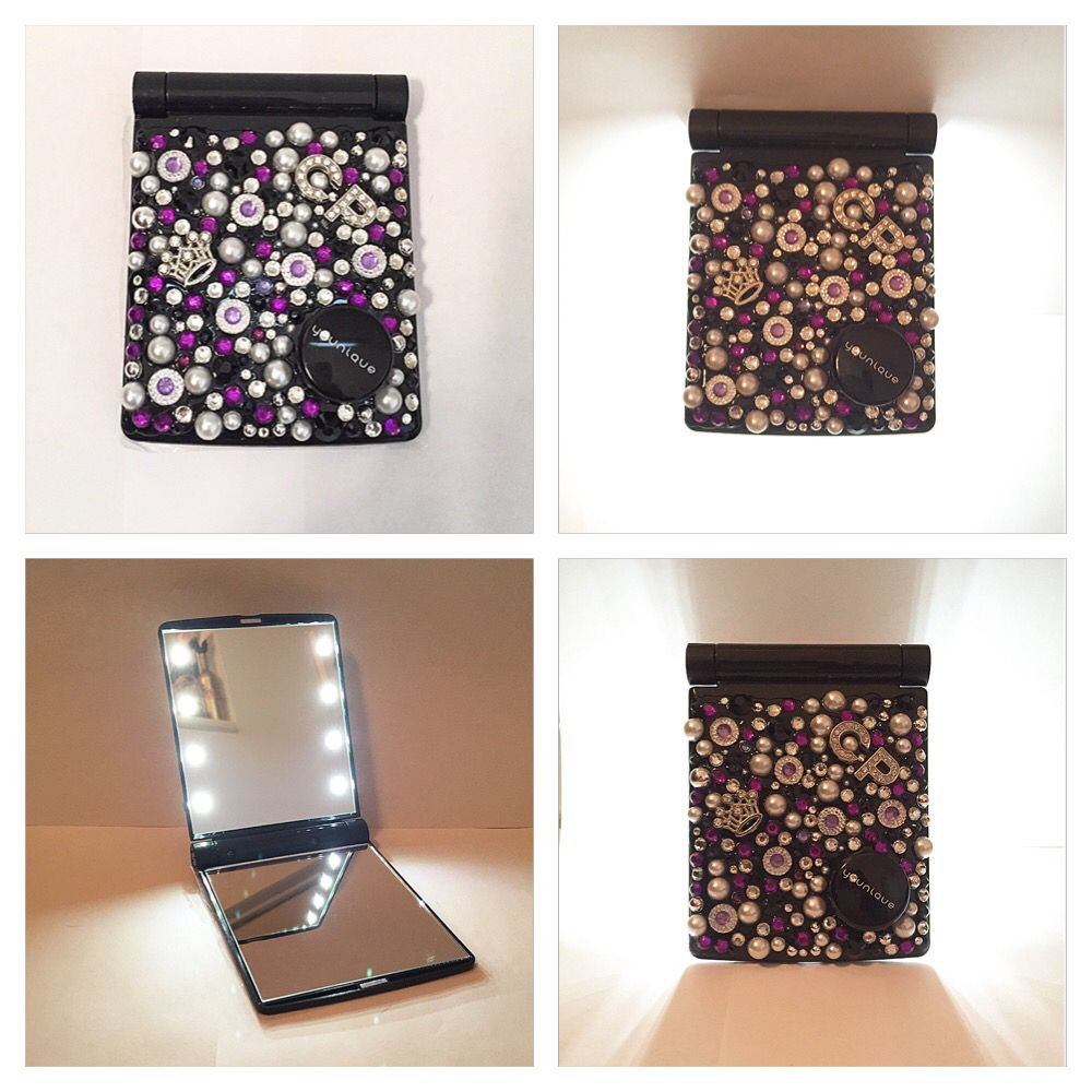 Custom lighted compact makeup mirror! Each mirror is