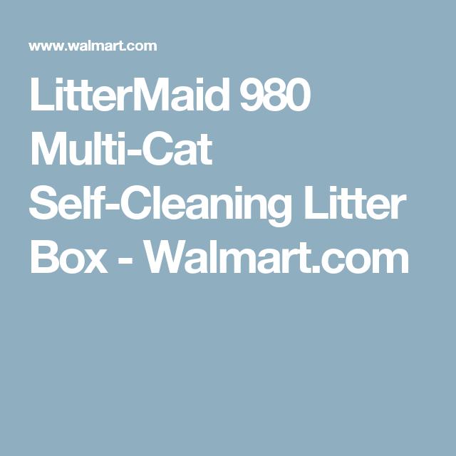 LitterMaid 980 MultiCat SelfCleaning Litter Box Walmartcom