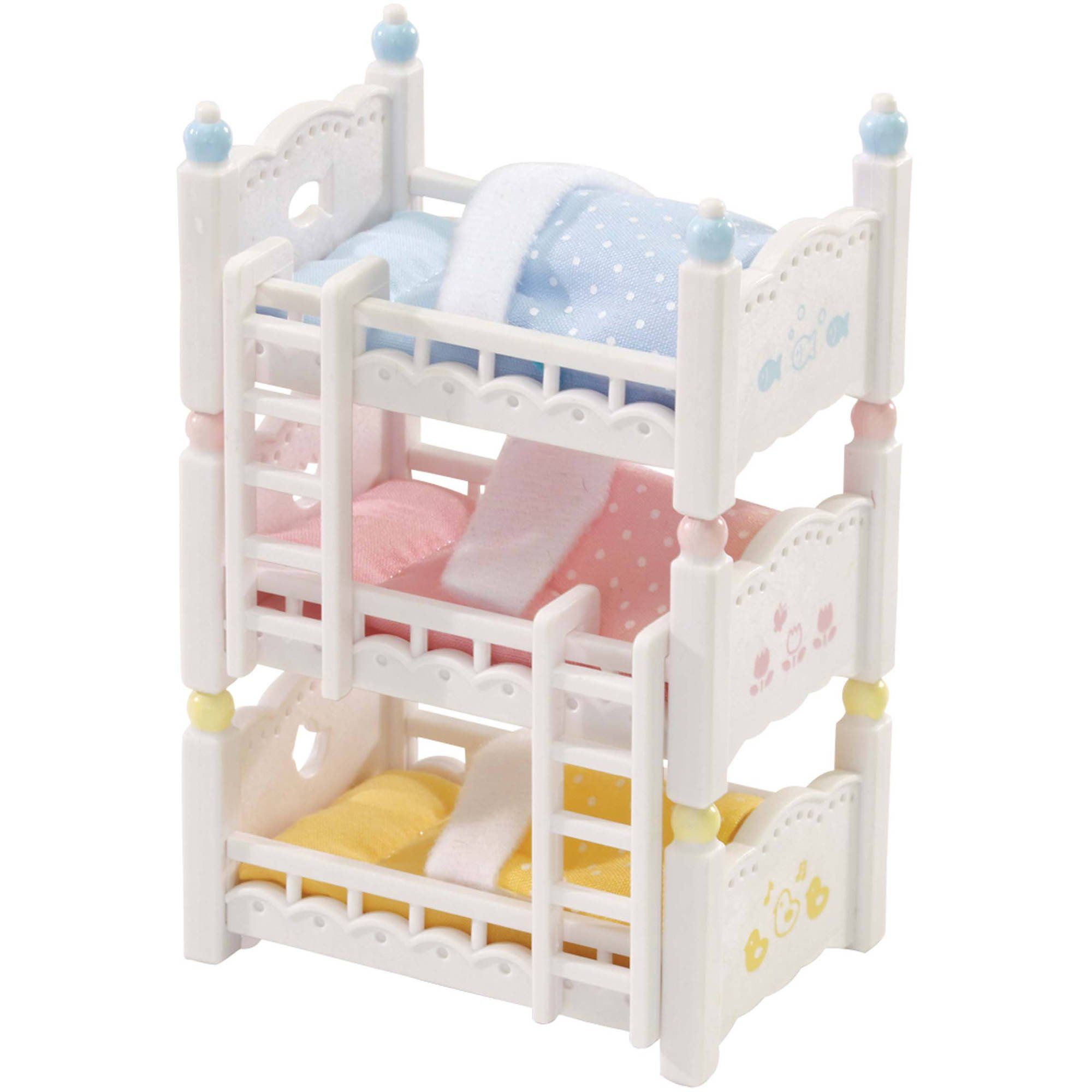 Calico Critters Triple Baby Bunk Beds in