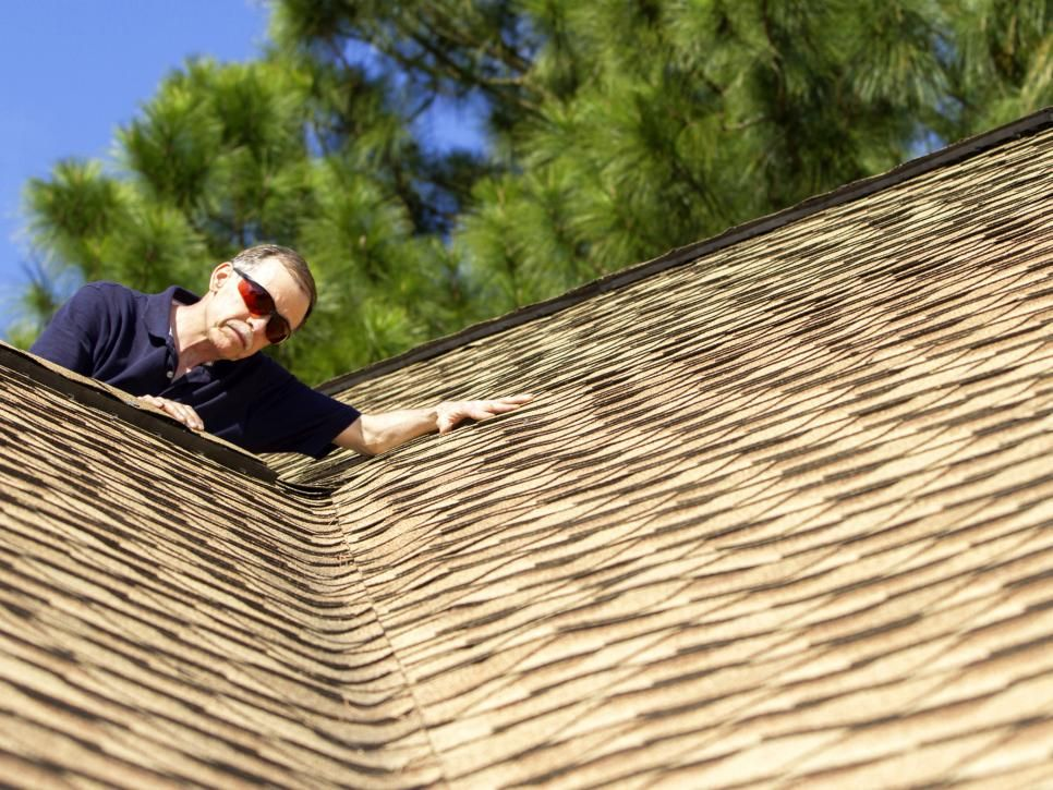 Examine roof shingles to see if any were lost or damaged