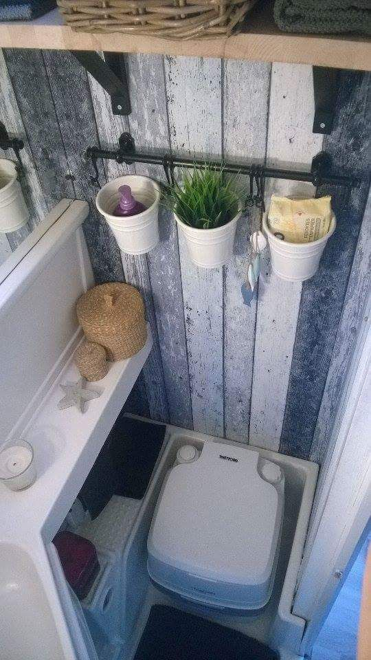 Photo of Washroom in trailer – #backsplash #trailer #Washroom