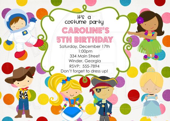 Costume Party Invitation 12 Can Add On Thank You Notes Etsy