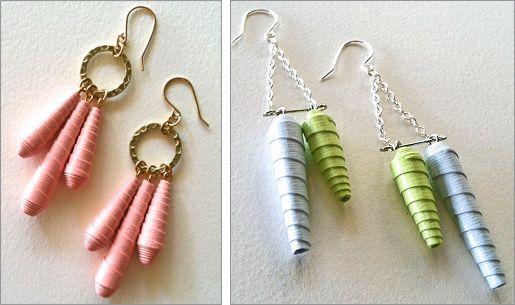 Lane Tanner Designs Bone Inspired Paper Earrings