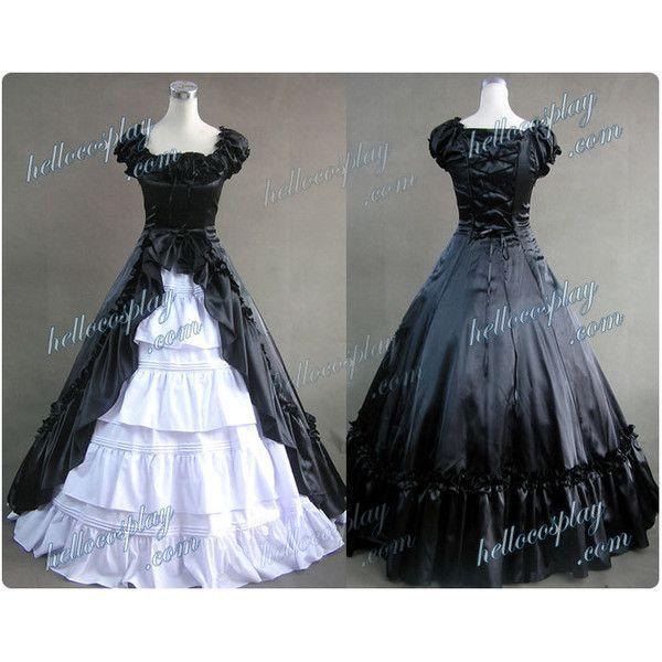 Renaissance Gothic Reenactment Dress Ball Gown Black Dress $130.00 ...