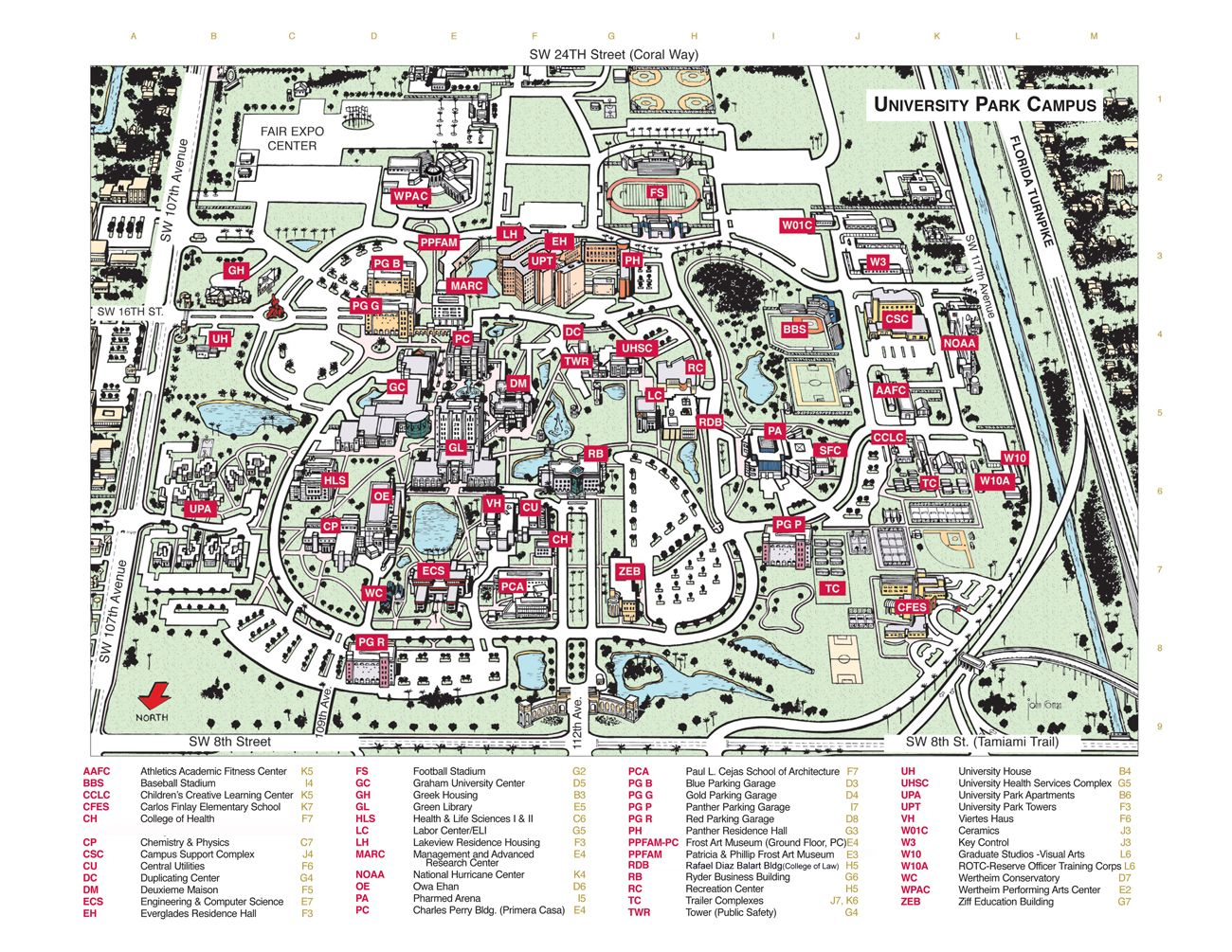 Florida International University Campus Map   Florida