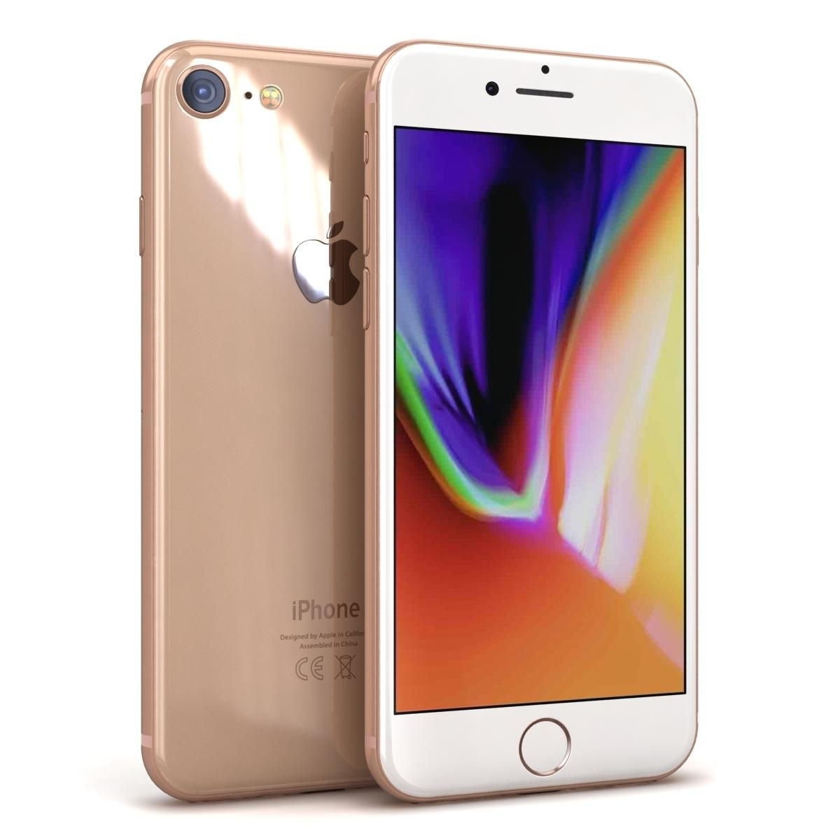 Apple Iphone 8 Gold 3d Model Ad Iphone Apple Model Gold
