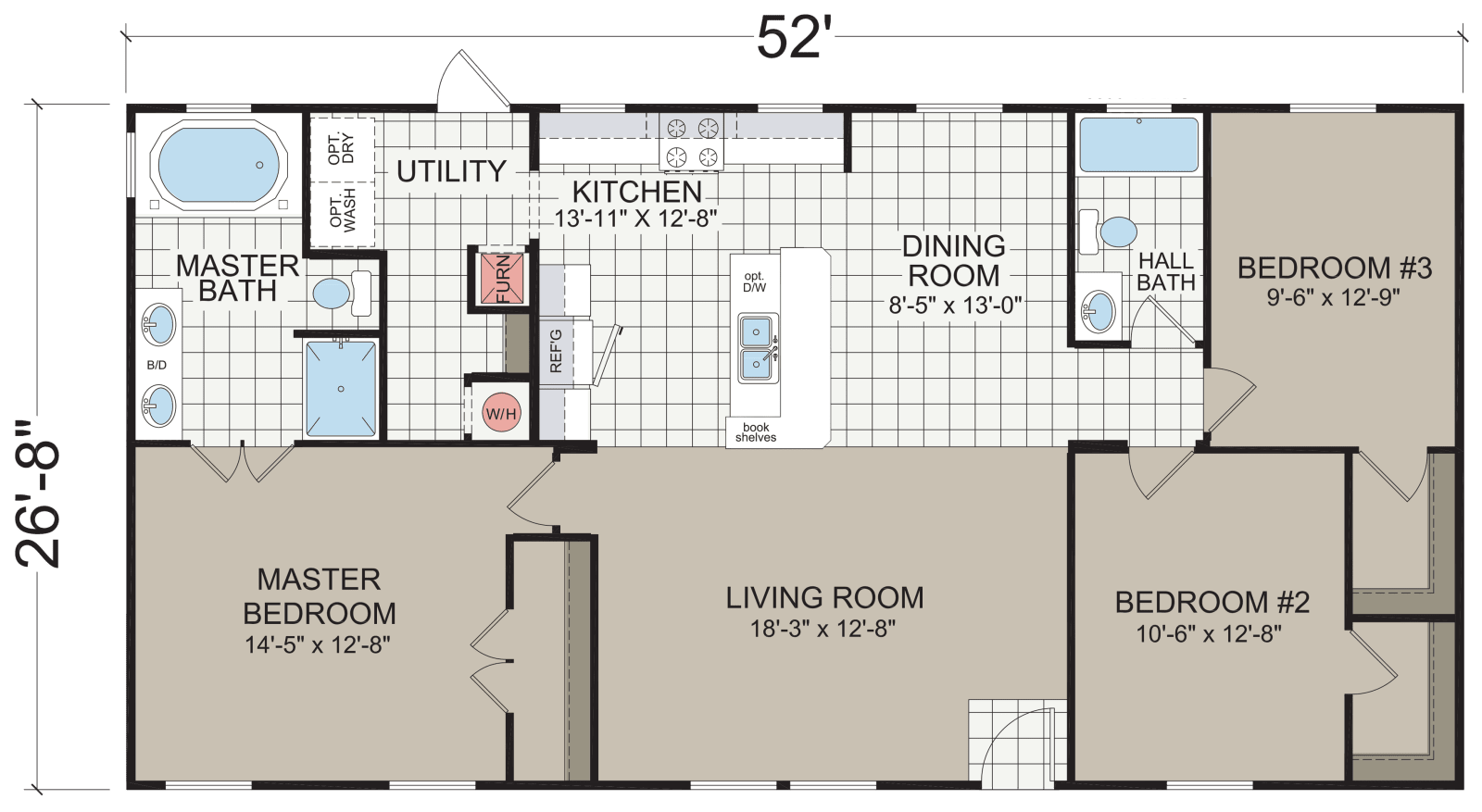 Dutch 352 Marion Built By Champion Homes In Lillington Nc View The Floor Plan Of This 3 Bedroom 2 Ba Mobile Home Floor Plans Floor Plans House Floor Plans