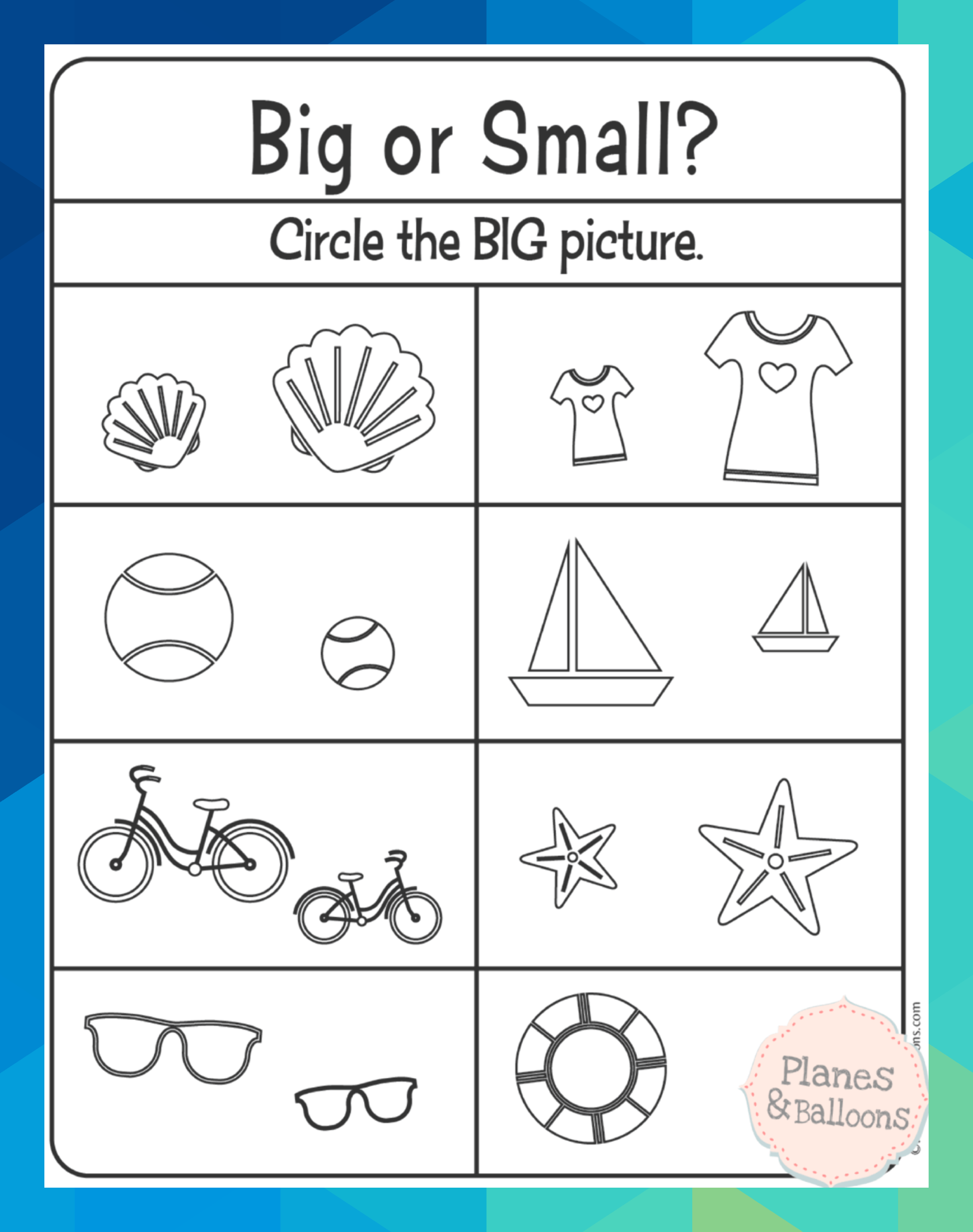 Easy Prek Free Printable Worksheets Perfect For 3 Year