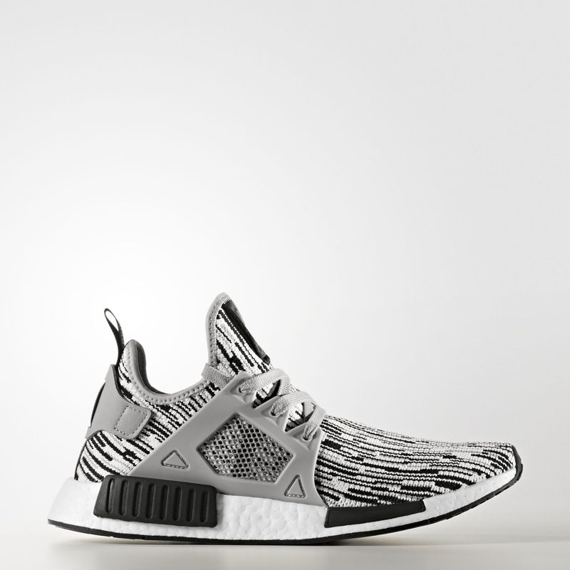 adidas NMD XR1 Primeknit Black Pinstripe The Sole