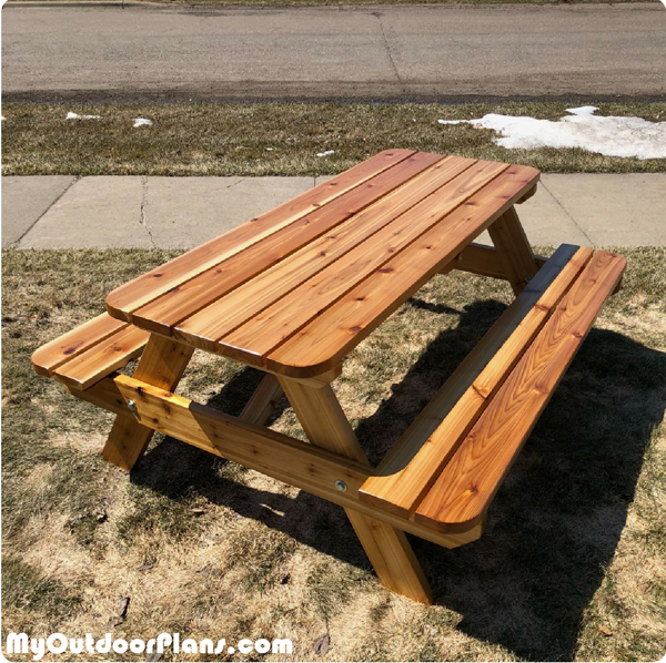 6 Ft Picnic Table Diy Picnic Table Picnic Table Plans Woodworking Plans Free
