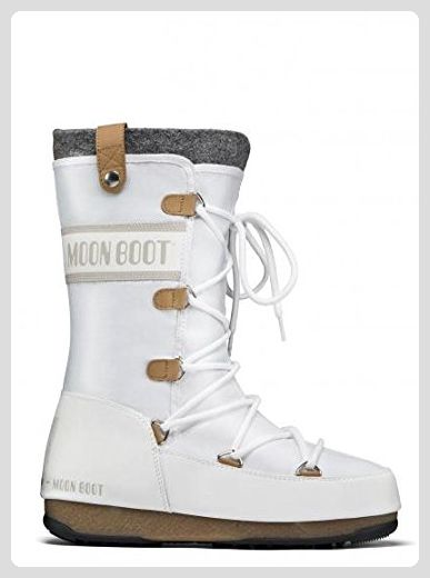 super popular 725e5 f87c7 Moon Boot WE Monaco Felt Damen-Winterstiefel (weiss), EU 38 ...