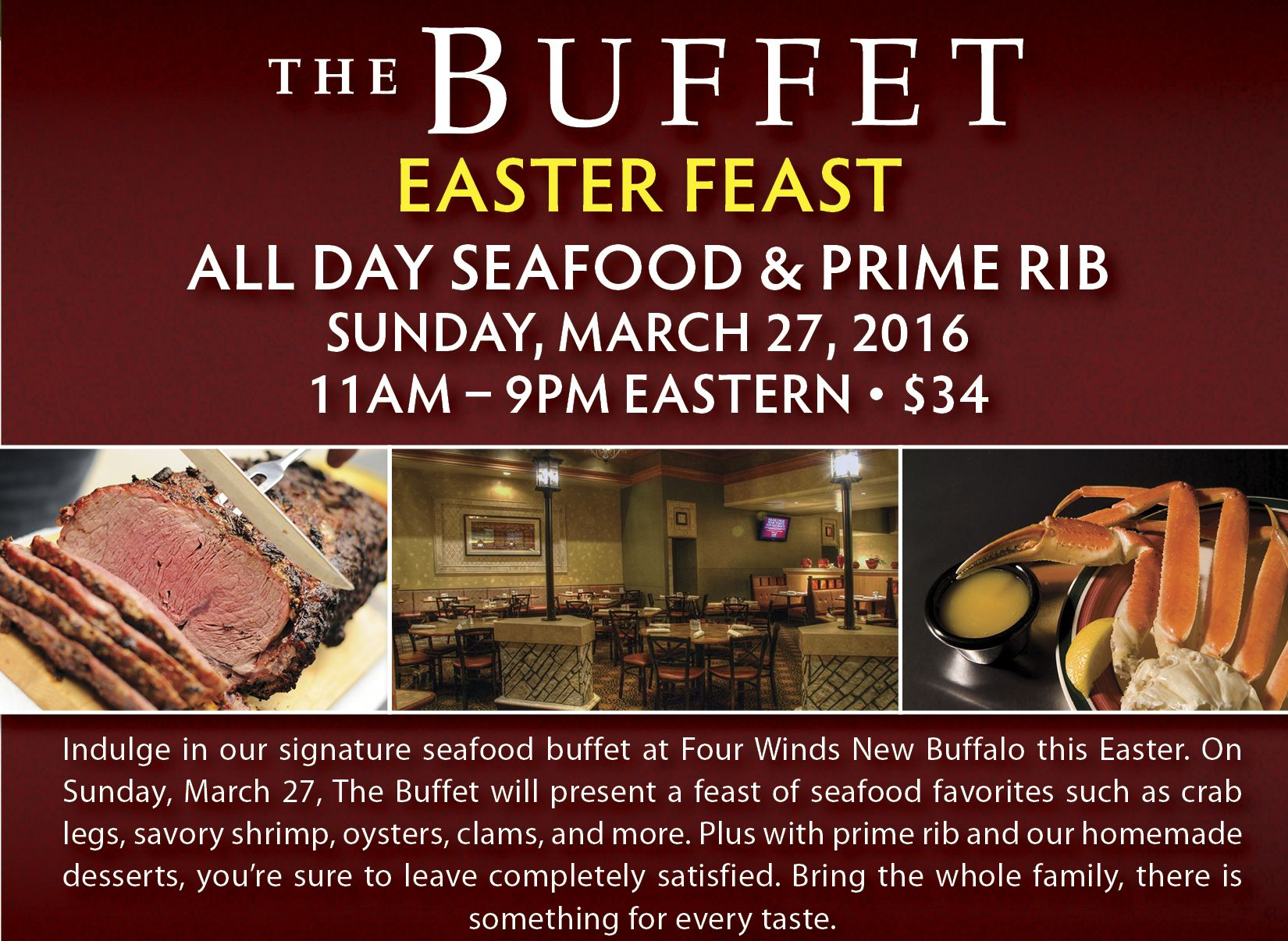 easter feast at the buffet four winds dining casino buffet rh pinterest com