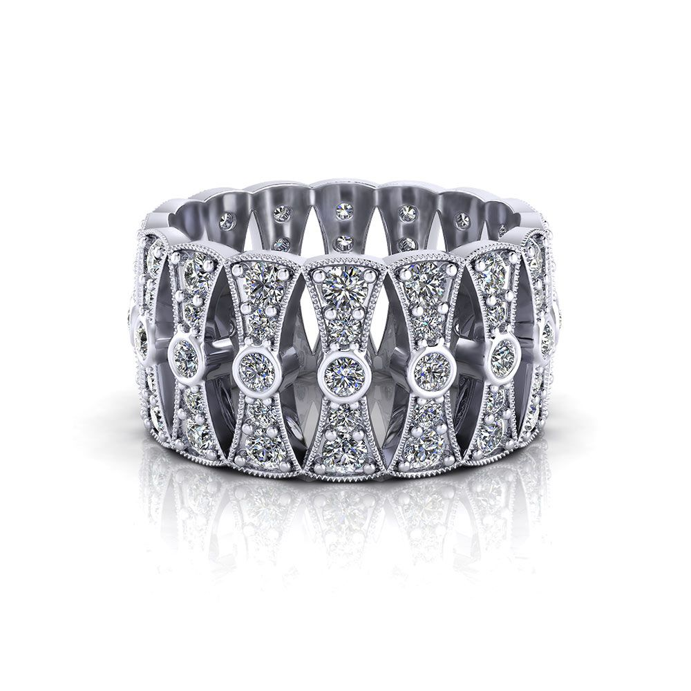 This is a photo of Wide Diamond Wedding Band Jewelry Designs Wide diamond wedding