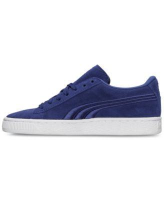 ccb833de46bc71 Puma Boys  Suede Classic Badge Casual Sneakers from Finish Line - Blue 6.5