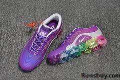 e3bfb8186e0cf Nike Air VaporMax 2018.5 KPU Purple Gray Rainbow Sole Women ...