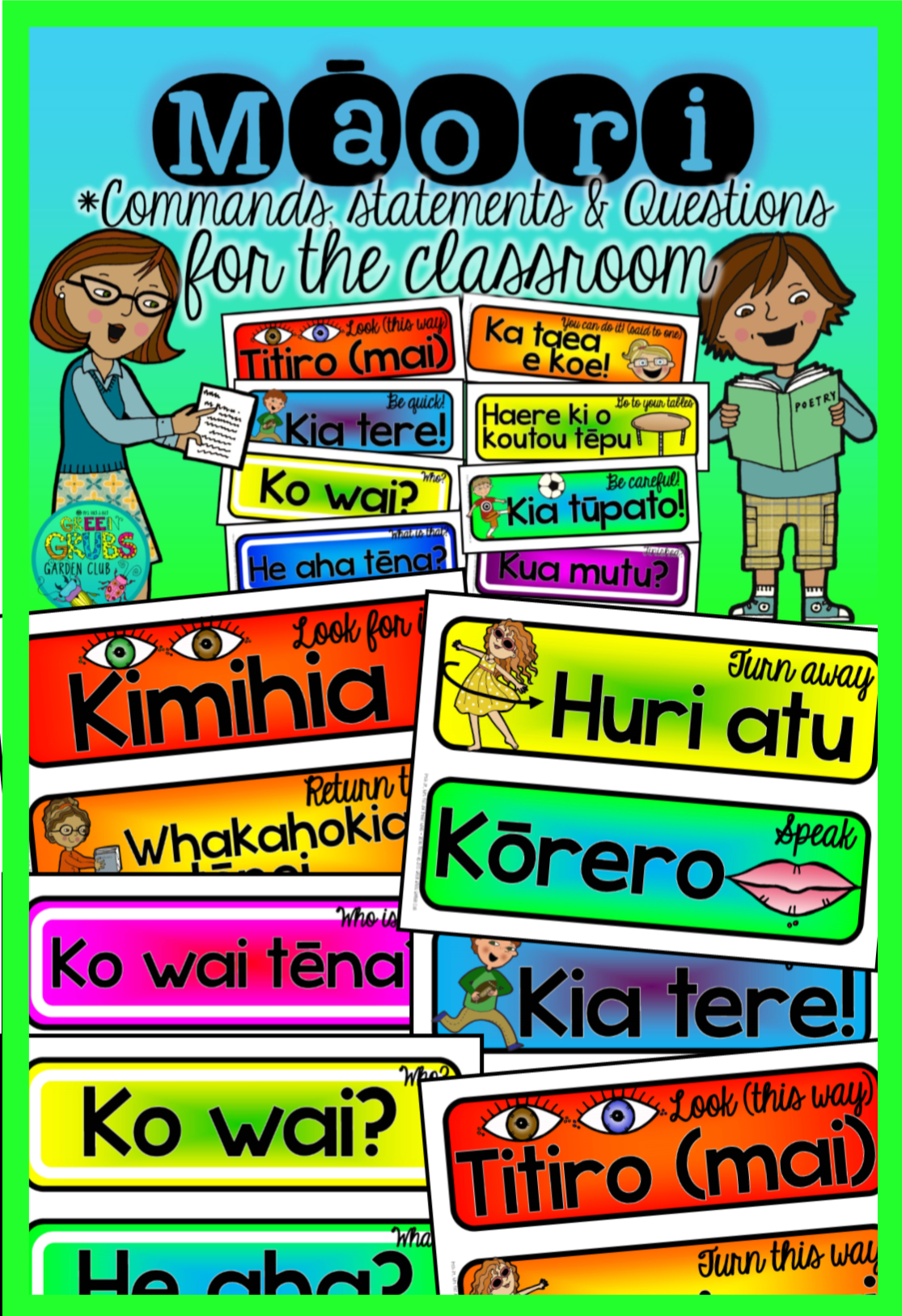 Maori Commands Statements Amp Questions For The Classroom