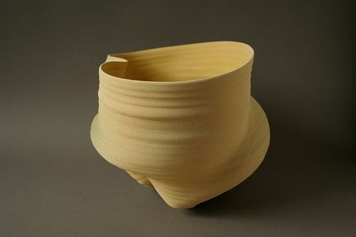 Clay-e-motion glazed vessel/07 by AnneMarie Laureys Ceramics, via Flickr