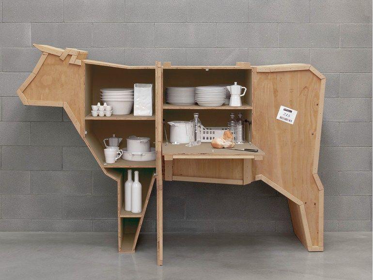 Credenza Per Ripostiglio : Credenza in legno sending cow by seletti wood interni