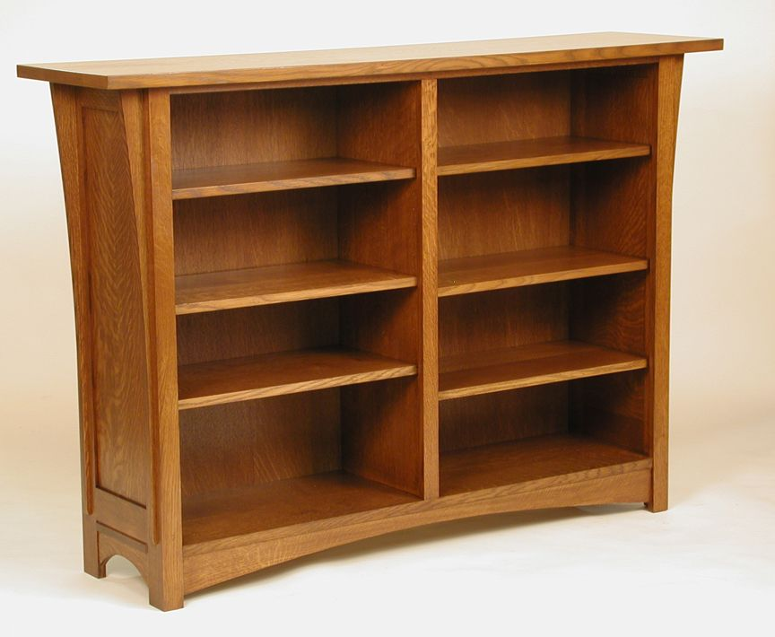 corner bookcase with mission amish doors eia style