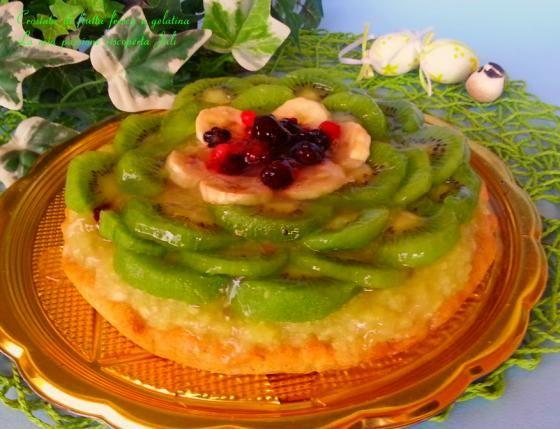 Crostata di frutta fresca e gelatina  #ricette #food #recipes