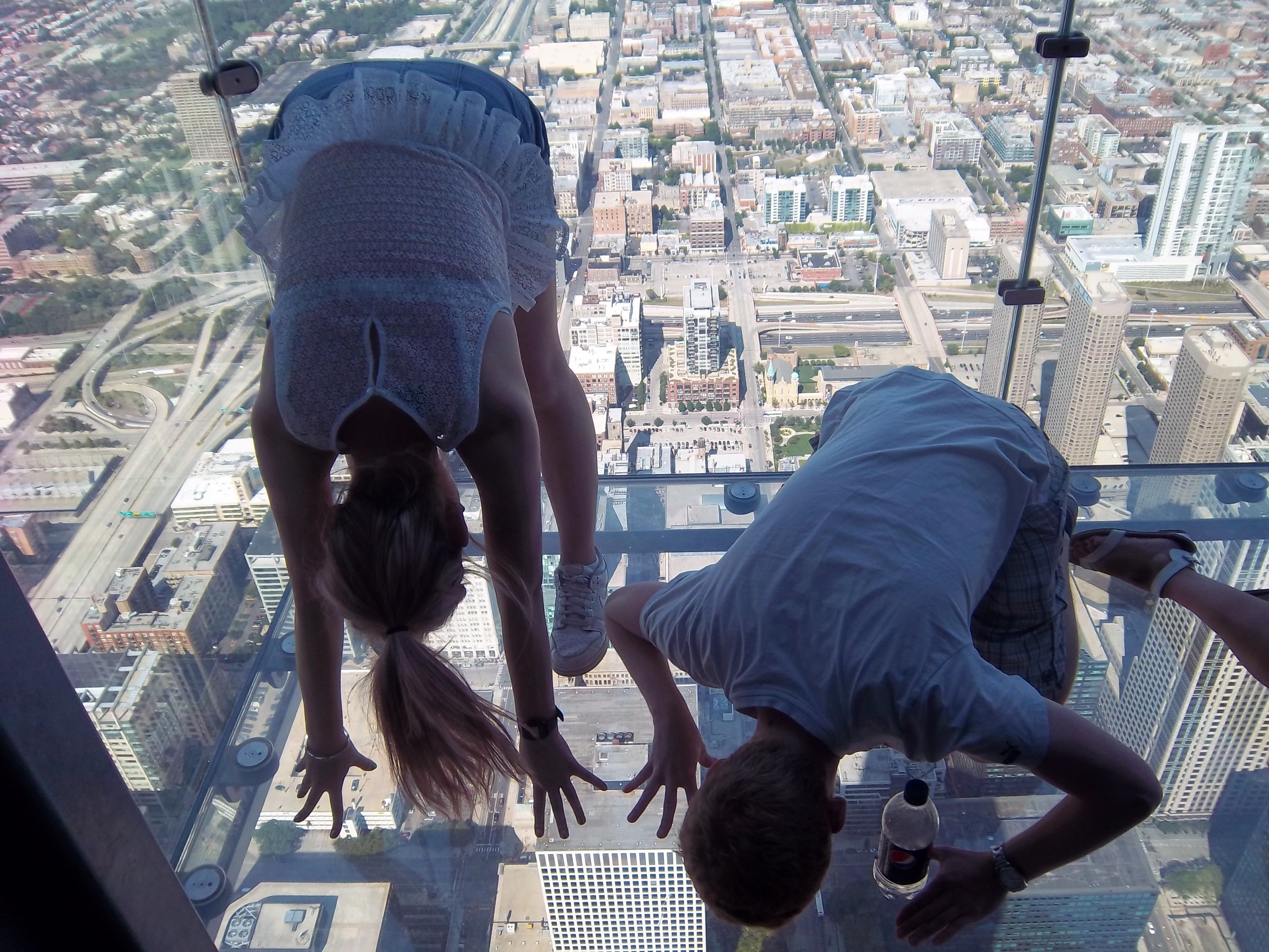me and my friend up the Willis Tower!