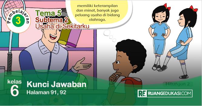 Kunci Jawaban Buku Tematik Tema 5 Kelas 5