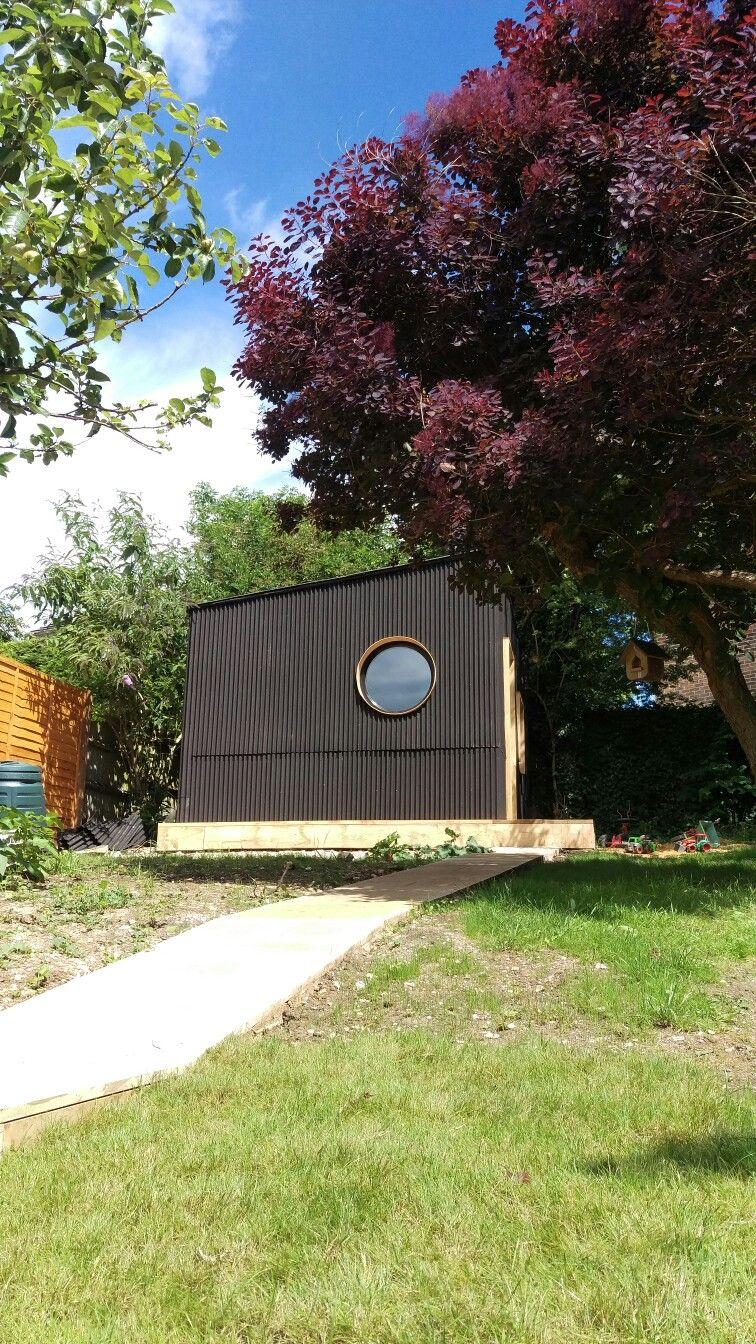 Idraw Architecture Bespoke Garden Office Design Clad With Onduline Mini Profile Sheets Garden Office Office Design Garden Office Shed