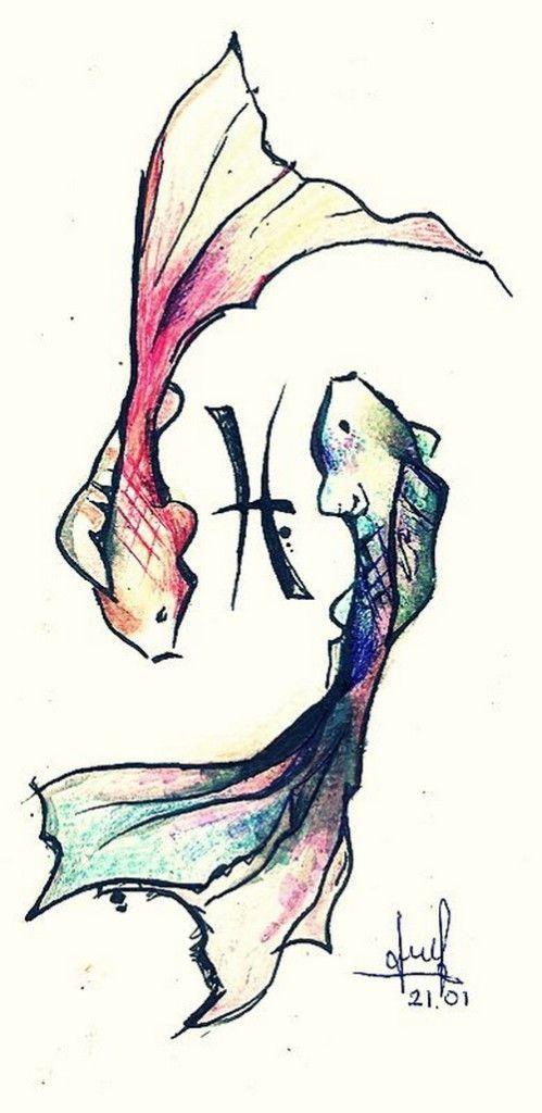 pisces koi tattoo designs | Scripts | Pisces tattoos ...