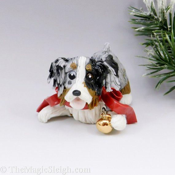 Australian Shepherd Christmas Ornament.Australian Shepherd Christmas Ornament Ball Porcelain