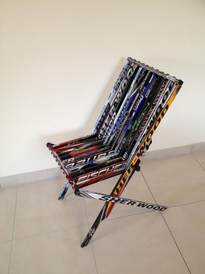 Exceptional Recycled Hockey Stick Chair