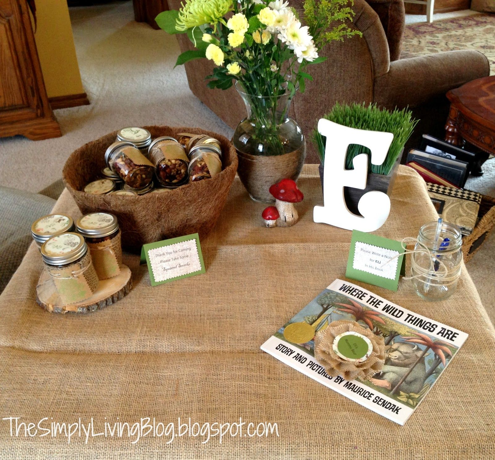 """I LOVE the idea of having guests sign """"Where the Wild Things are"""" as a guest book...give to baby afterwards"""