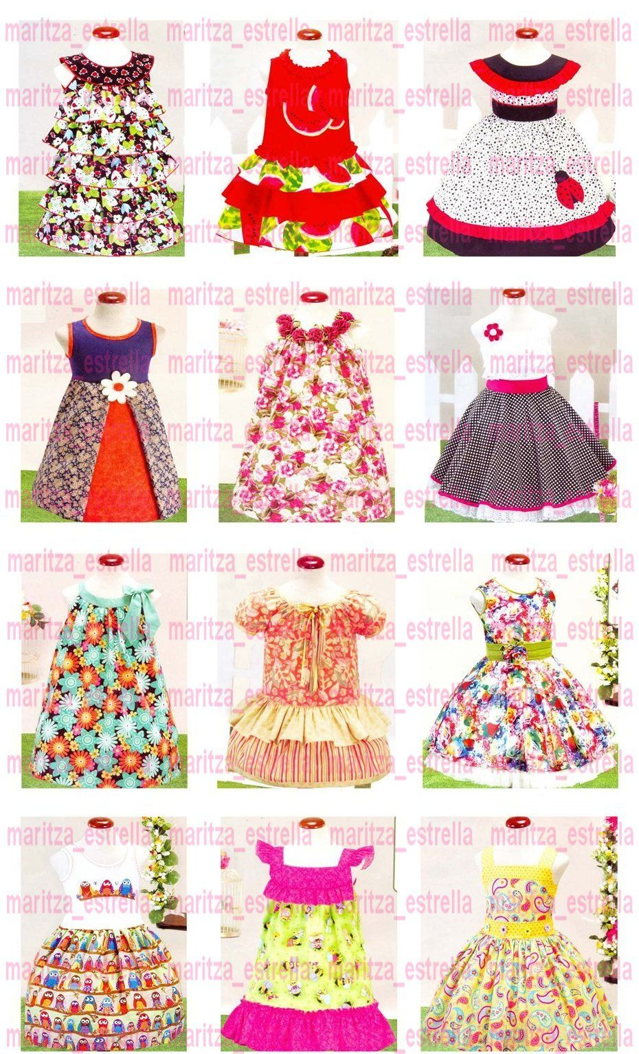 aebd1d96541a Patrones De Vestidos Para Niñas Todas Las Tallas Moldes Bebe - Bs ...