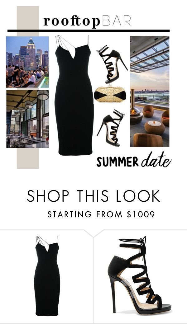 """""""Untitled #812"""" by lulubelle1972 ❤ liked on Polyvore featuring Victoria Beckham, Jimmy Choo, Christian Louboutin, summerdate and rooftopbar"""