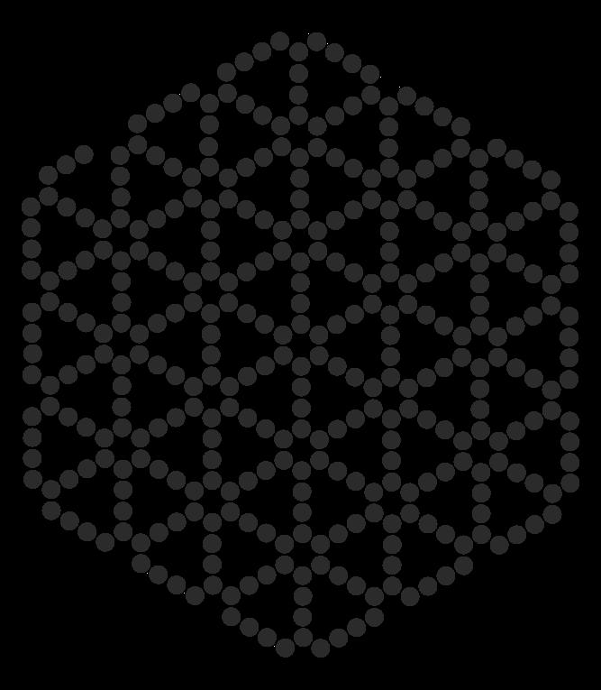 Flower Of Life Perler Bead Pattern